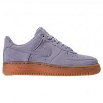 Nike Air Force 1 '07 Se Damen Schuh Aa0287 001 Licht Blau Grau/Gummi Mittel Braun