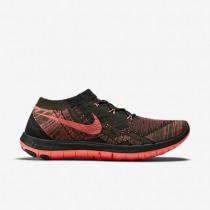 Nike Free 3.0 Flyknit Herren Sneaker Schwarz/Orange Rot/Rau Grün/Heiß Lava