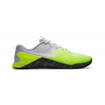 Nike Metcon 3 Männer Schuh - Farben: Grau Weiß/Schwarz/Volt/Geist Grün