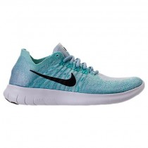 Nike Free Rn Flyknit Damen Blau Farbton/Schwarz/Zirrus Blau/Blau Sneaker 880844 402