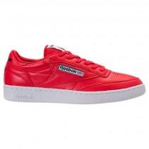 Männer Ursprünglich Rot/Weiß/Schwarz Reebok Club C 85 Schuhe Bs5212