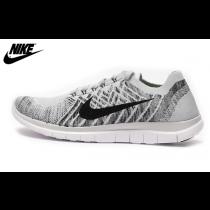 Grau Weiß Schwarz Weiß Herren Nike Free 4.0 Flyknit Sneaker 717076-005