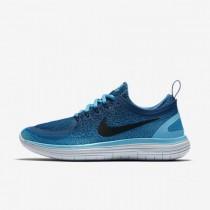 Damen Nike Free Rn Distance 2 Blau Lagune/Industriell Blau/Polarisiert Blau/Schwarz Schuhe