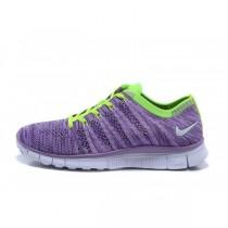 Nike Free Flyknit Nsw Frauen Lila/Volt Schuh