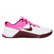 Damen Nike Metcon 2 Weiß/Nacht Kastanie/Rosa Sprengen Schuh 821913-106