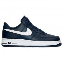 Herren Nike Air Force 1 Niedrig Mitternacht Marine/Weiß Schuhe 488298 436