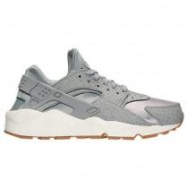 Damen Nike Air Huarache Run Premium Wolf Grau/Beige/Gummi Mittel Braun Sneaker 683818 012
