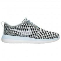 Damen Nike Roshe Two Flyknit Licht Blau/Weiß/Schwarz Schuh 844929 402