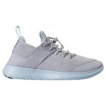 Frauen Grau Weiß/Licht Blau Nike Free Rn Commuter Schuhe 880842 012