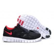 Schwarz Rot Damen Nike Free Run 2 Sneaker