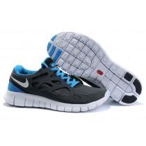 Herren Nike Free Run 2 Fluoreszierend Grün Weiß Schwarz Königlich Blau Schuh