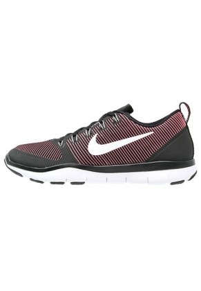 Herren Nike Free Train Versatility Performance Sports Schuh - Schwarz/Weiß/Aktion Rot