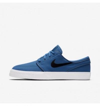 Herren Nike Sb Zoom Stefan Janoski Segeltuch Industriell Blau/Hell Schwarz Skateboarding Schuhe Mn9640-055