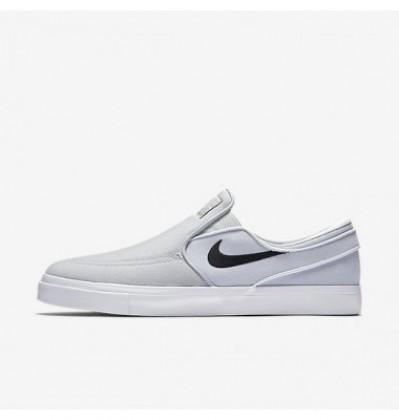 Nike Sb Zoom Stefan Janoski Slip-On Canvas Herren Wolf Grau/Grau Weiß/Schwarz Skateboarding Schuhe Mn9640-028