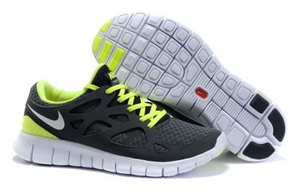 Nike Free Run 2 Mens Running Shoes Black Anthracite White Volt