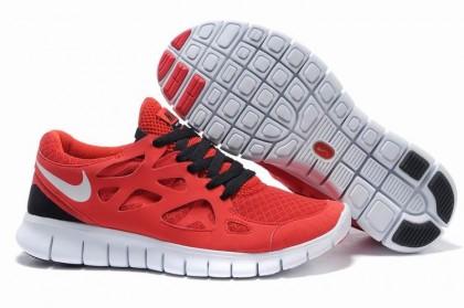 Nike Free Run 2 Durchnässt Blau Weiß Solar Rot Damen Schuh