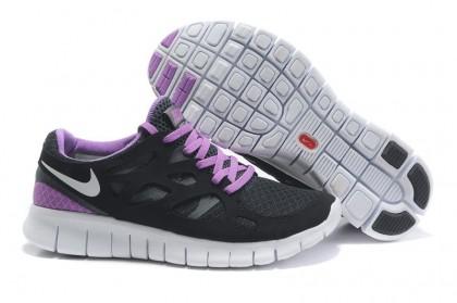 Schwarz Lila Nike Free Run 2 Frauen Schuhe