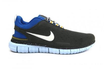 Nike Free Og Id Herren Kohlenstoff Grau/Königlich Blau Schuh