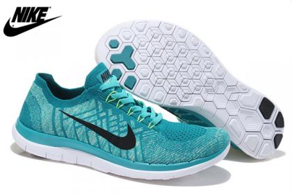 Nike Free 4.0 Flyknit Forest Grün Schwarz Herren/Damen Sneaker 717076