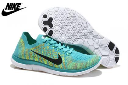 Nike Free 4.0 Flyknit Herren/Damen Schuh Jade Fluoreszenz Schwarz 717076