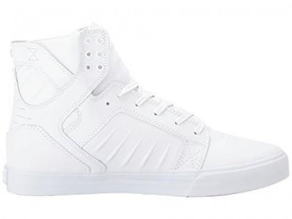 Herren Supra Skytop Evo Weiß/Weiß/Rot Schuhe