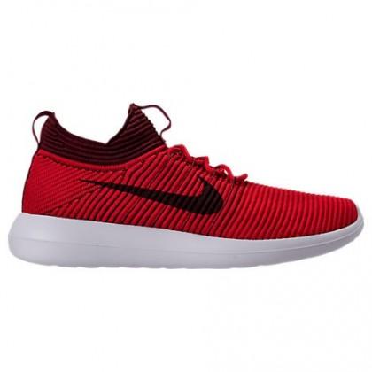 Nike Roshe Two Flyknit V2 Universität Rot/Dunkel Mannschaft Rot Herren Schuhe 918263 600