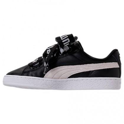 Damen Schwarz/Weiß Puma Korb Herz De Schuhe 36408201 001