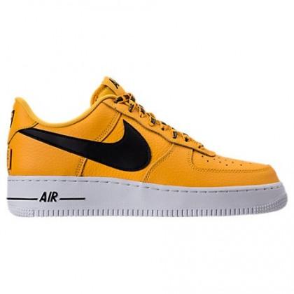 Amarillo/Schwarz/Weiß Männer Nike Nba Air Force 1 '07 Lv8 Schuh 823511 701