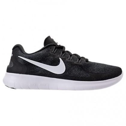 Schwarz/Weiß/Dunkel Grau Damen Nike Free Rn Schuhe 880840 001
