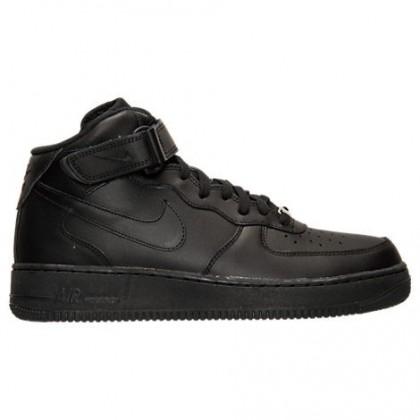 Herren Nike Air Force 1 Mitte Sneaker 315123 001 Schwarz