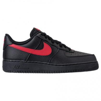 Männer Nike Air Force 1 '07 Schwarz/Universität Rot Schuh Aa4083 011