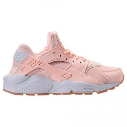 Damen Nike Air Huarache Schuhe 634835 607 Dunkel Orange/Weiß/Gummi Gelb