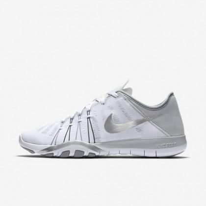 Weiß/Wolf Grau/Metallisch Silber Nike Free Tr 6 Nike 833413-100 Frauen Schuh