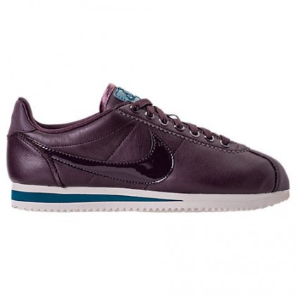 Nike Classic Cortez Besondere Edition Premium Frauen Schuh Aj0135 600 Granatapfel Rot/Raum Blau/Licht Orewood