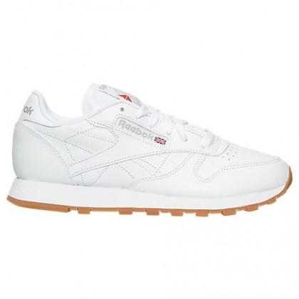 Reebok Classic Leder Gummi Damen Schuh 49801 Weiß/Gummi