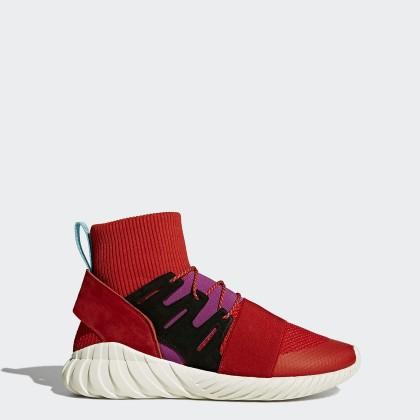 Scharlachrot/Scharlachrot/Schock Lila Herren Adidas Originals Tubular Doom Winter Schuhe By9397