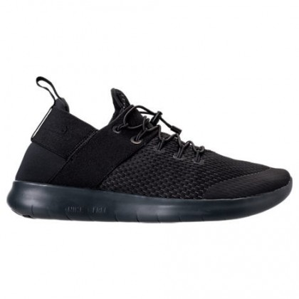 Nike Free Rn Commuter Frauen Sneaker 880842 001 Schwarz/Dunkel Grau/Fluoreszierend Grün