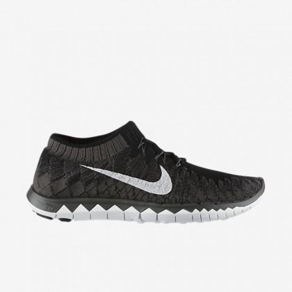 Herren Nike Free 3.0 Flyknit Sneaker Im Schwarz/Dunkel Grau/Weiß