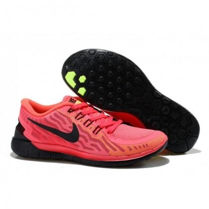 Frauen Nike Free 5.0 V2 Rot Schwarz Schuhe