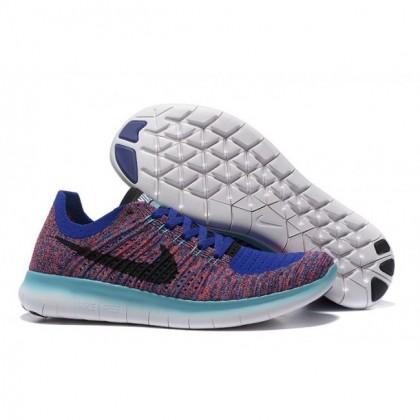 Herren Saphir Fuchsie Nike Free Flyknit 5.0 Schuhe