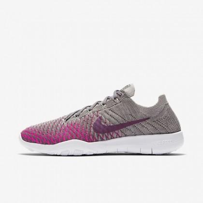 Grau/Rosa/Lila Nike Free Tr Flyknit 2 Nike Damen Schuh 904658-008