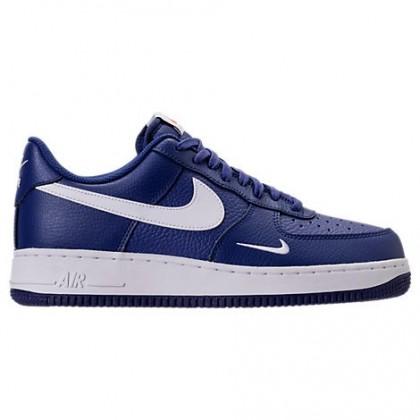 Tief Königlich Blau/Weiß Herren Nike Air Force 1 Low Schuh 820266 406