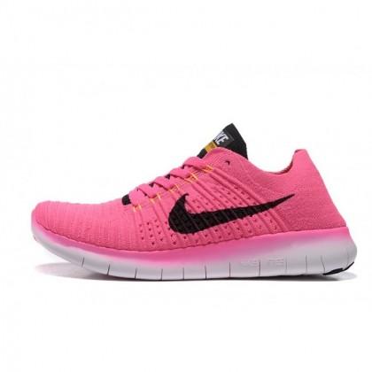 Nike Free Flyknit 5.0 Frauen Rosa Schwarz Schuhe