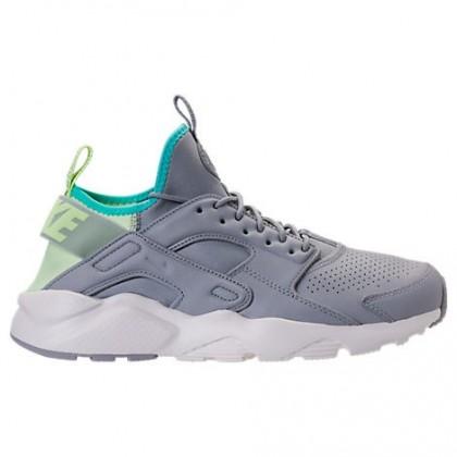 Nike Air Huarache Run Ultra Se Männer Schuh 875841 002 Wolf Grau/Licht Grün