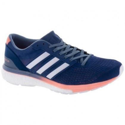 Frauen Adidas Adizero Boston 6 Edel Indigo/Weiß/Roh Stehlen