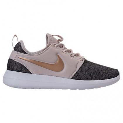 Damen Nike Roshe Two Knit Schuhe Aa1113 100 Licht Orewood Braun/Blur