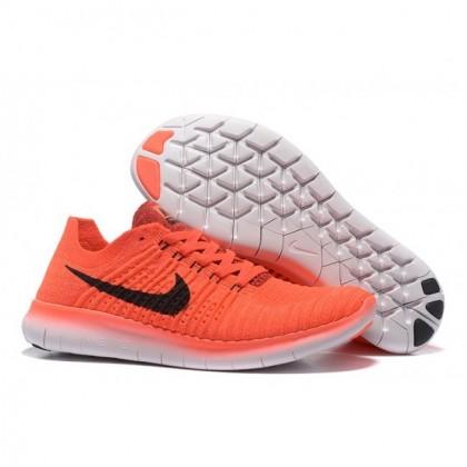 Orange Schwarz Nike Free Flyknit 5.0 Herren Schuh