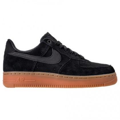 Nike Air Force 1 '07 Se Frauen Sneaker Aa0287 002 Schwarz/Gummi Mittel Braun