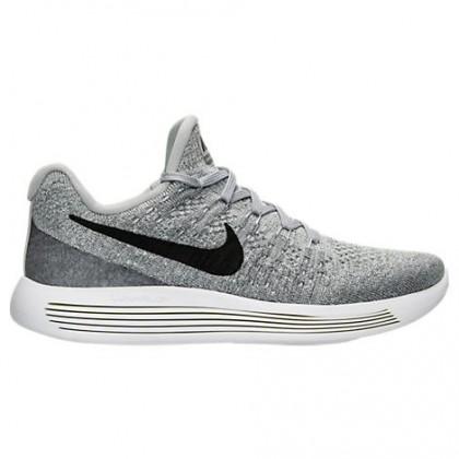Frauen Nike Lunarepic Low Flyknit 2 Schuh 863780 002 Wolf Grau/Schwarz/Cool Grau/Grau Weiß