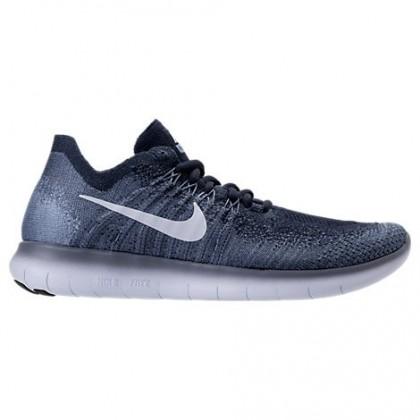Nike Free Rn Flyknit Herren Ozean Blau/Blau Farbton/Arbeit Blau Schuhe 880843 402